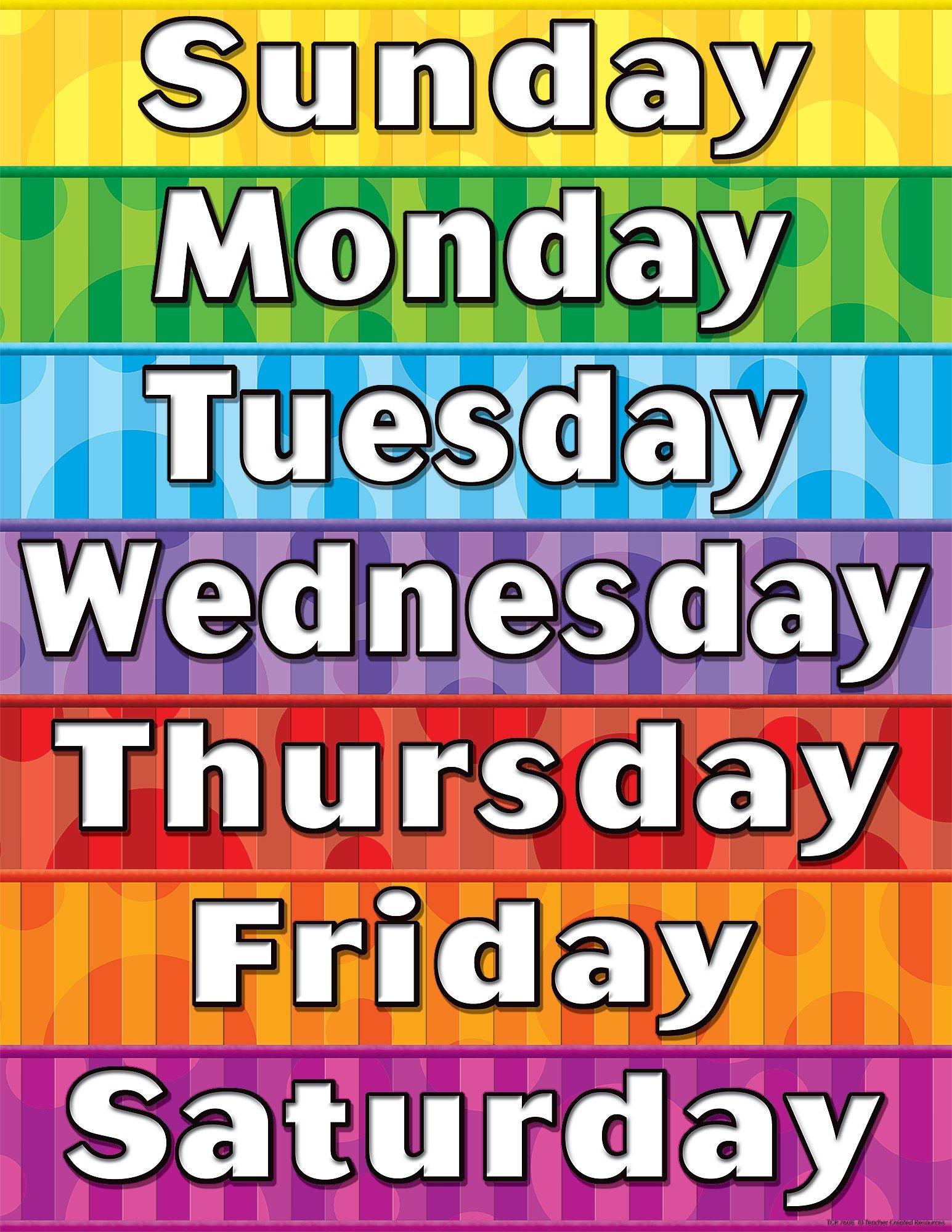 Дни недели в английском языке